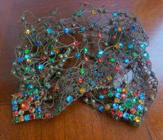 Vintage 1940s Forties Wartime Beaded Hair Net. £71