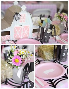 Dining Table Details from a Charlotte's Web Inspired Birthday Party | Kid's…