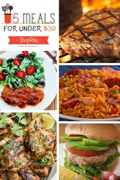 Free Meal Planning - 5 Meals for Under $30 at ShopRite Based on Weekly Sales & Coupons