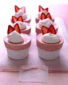 Pink Strawberry Souffles!!!