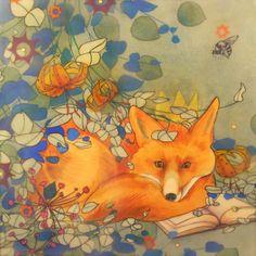 The Fox Prince Dreams of Camelot- limited edition print of original mixed media painting Fox Spirit, Encaustic Art, Fox Art, Woodland Creatures, Mixed Media Painting, Red Fox, Children's Book Illustration, Limited Edition Prints, Artist Art