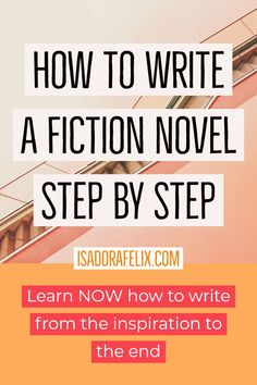 How to write a fiction novel step by step. Learn to write and find out how to write a book. This will guide through inspiration process, outlining, deciding about details, creating characters, until you are able to finally finish it! Writing A Book Outline, Outlining A Novel, Book Writing Tips, Writing Resources, Writing Skills, Writing Prompts, Story Outline, Writing Images, Writing Topics