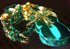 Collar Malaquita con Agata verde