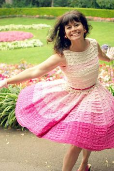 Pretty pink ombre eyelet lace party dress.      smitten   #bridesmaiddress