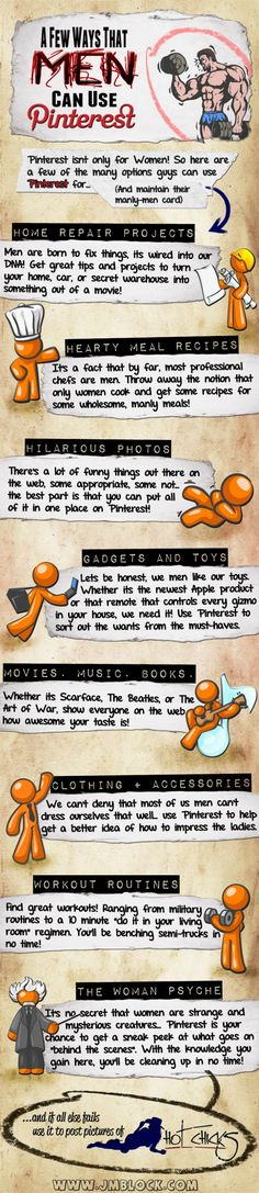 A few ways that men can use Pinterest #infographic