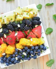 Spring Fruit Salad with Honey Vinaigrette