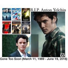 Gone too soon - Actor Anton Yelchin known best for this roles in the Star Trek film franchise, just 27 years old was found pinned between his car and a security wall at his home this morning. Such a tragedy to lose such an amazing talent way before his time.  Our thoughts and prayers are with his family and friends.