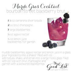 mardi gras cocktail - thé good list - Petit Lapin