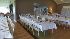 Long table wedding set up at Crooked River Wines = stunning!
