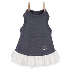 Louisdog Organic Lace Top Navy