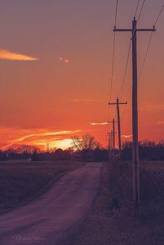 Sunset Road, Old Street, Wind Turbine, Landscapes, Bucket, Aesthetics, United States, Wallpapers, Adventure