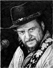 Waylon Jennings Sketch print / Free Shipping $7.50