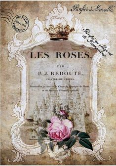 Les roses vintage ad with roses crown castle  http://timothy-denehy.artistwebsites.com/
