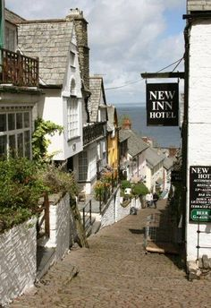 The beautiful village of Clovelly, Devon UK. The whole estate including the village is owned by one family, no cars only donkeys to transport everything. Just the most wonderful, unspoilt and unique place a must see if you are ever in Devon: