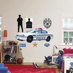 Delicieux Police Car Wall Graphic   Incredible Bedroom, Play Room, And Nursery Decor  For Boys And Girls Rooms At Kids Decorating Ideas