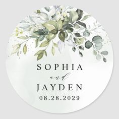 Dusty Blue Eucalyptus Greenery Succulent Wedding Classic Round Sticker Blue Wedding Favors, Vintage Wedding Favors, Wedding Ideas, Wedding Labels, Wedding Inspiration, Wedding Poses, Wedding Pictures, Wedding Details, Wedding Dresses