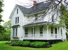 Pretty white clapboard farm house
