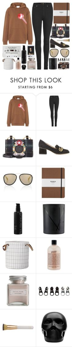 """Even in a hundred years in the future, I want my next step to be next to you"" by pure-and-valuable ❤ liked on Polyvore featuring Acne Studios, Yves Saint Laurent, Miu Miu, Gucci, Shinola, St. Tropez, NARS Cosmetics, philosophy, Mullein & Sparrow and Full Tilt"