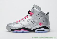 543390-009 Valentine Day Silver/Pink AIR JORDAN 6 RETRO Outlet Stores