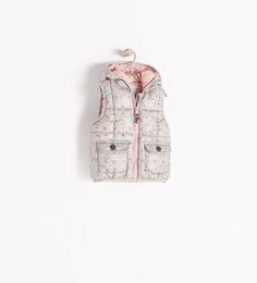 ZARA - COLLECTION AW14 - PADDED VEST WITH HOOD