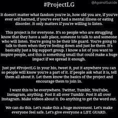 #ProjectLG I'm always willing to listen. If you've had a bad day, you can comment on any of my pins on any of my boards about what's wrong. I will listen to your story