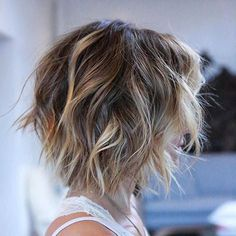 Short Messy Balayage Hair http://short-haircutstyles.com/category/popular-in-2016/hairdo