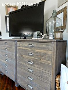 raw wood -> walnut stain -> weathered gray stain -> wipe while wet