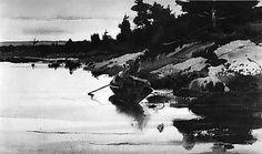 """Turkey Cove Ledge,"" 1939, Andrew Wyeth  -  [Metropolitan Museum of Art]"