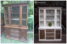 Rustic Modern Hutch Repurposing project by FunCycled. www.funcycled.com