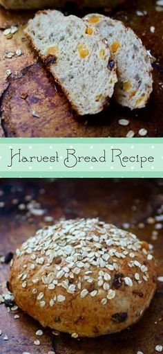 Harvest bread recipe is an easy fruit and nut loaf - it's so addictive! Dried fruit, sunflower seeds, and whole grains! From http://RestlessChipotle.com
