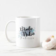 Something Blue Watercolor Wedding Bride Tribe Coffee Mug