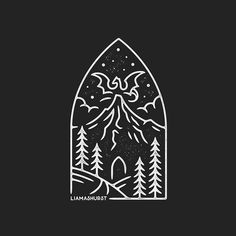 The Lonely Mountain 🏔 Did this quick piece based on The Hobbit, making sure to squeeze in a tiny Smaug in the background! I'm considering making this available on some shirts in the store, would you be interested in that? Hobbit Tattoo, Lotr Tattoo, Tolkien Tattoo, Jrr Tolkien, Lord Of The Rings Tattoo, O Hobbit, Little Presents, Simple Art, Middle Earth