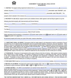 Real Estate Purchase Agreement Form Free Templates With Sample - Purchase agreement template for house