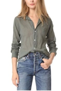 Citizens of Humanity Frank & Eileen Barry Shirt in Army Green