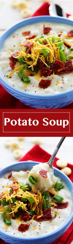 The soup is on! The nights are getting cooler and this creamy and flavorful Potato Soup is just what you need to heat up the night.