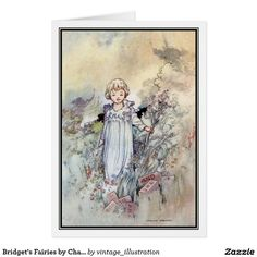 New cards, postcards and posters.  'Then Bridget looked at the bricks, and true enough, they were all words she could read or write'. A Charles Robinson illustration scanned from my own copy of 'Bridget's Fairies' (1919).