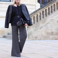 Kind of into flares lately  #today #fashion #fashionista #fashionblogger #outfit #ootd #picoftheday #photooftheday #igers #tflers #tbt #instagood #instalike #instamood #instadaily #girl #me #blonde #follow #followme #tagsforlikes  Flares @armani (vintage) biker @mango sweater @andotherstories belt @hm bag @celine.world by theoliviasway