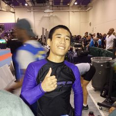 Champion! @shortroundbjj wins his second Purple Belt No Gi Pan Title. #ibjjf #floridagulfcoastwhat #nogipan #graciemag #purplebelt
