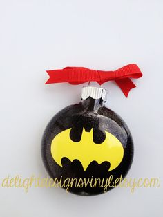 Batman Personalized Ornament- by #delightdesignsvinyl on #Etsy
