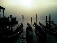 Venice in the fog , Italy