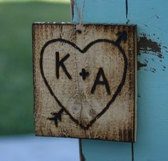 Carved On Rustic Old Barn Wood Heart And Arrow Personalized With Your Initials Vintage Home Decor Sign Garden Shabby Chic Rustic Farmhouse Country Cottage Valentine's Day Gift Antique Love Beach House Coastal Living