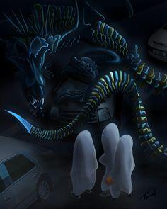 Halloween-Xenomorph Snake Dragon Halloween Entry by timohuovinen.deviantart.com on @DeviantArt
