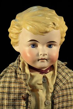 77 28'' Large CF Kling Co Jointed School Boy Doll Antique Bisque 190 C1885 | eBay