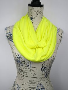 Yellow Loop Scarf - Solid Infinity Scarf - Plain Loop Scarf - Fashion Circle Scarf - Women Tube Scarf - Unique Circle Scarf - Gift Idea