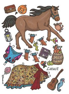 Horse paper dolls on this site. Hannah would love.