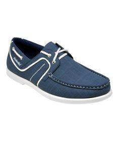 Look at this #zulilyfind! Navy Brad Boat Shoe - Men #zulilyfinds