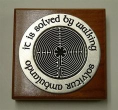 It Is Solved By Walking Labyrinth Paperweight, Chartres Catherdral, labyrinth puzzle, medieval cathedral floor with labyrinth, museum store gifts – Museumize