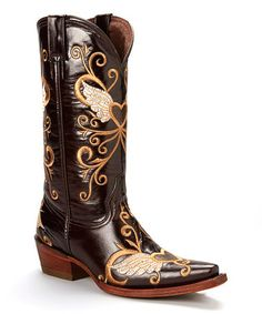 Look what I found on Pecos Bill Dark Brown Winged Heart Leather Cowboy Boot - Women by Pecos Bill Country Girls Outfits, Country Girl Style, My Style, Cowboy Boots Women, Cowgirl Boots, Western Wear, Western Boots, Pecos Bill, Distressed Leather