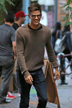Grant Gustin attends a cast party for CW's 'The Flash' and 'Supergirl' in downtown Vancouver.