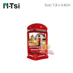 N-Tsi Teddy Bear London Bus Refrigerator Kitchen Magnet Fridge Stickers Home Decoration Accessories Memo Hanging New Year Gifts